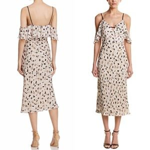 ABS by Allen Schwartz Floral Cold Shoulder Dress
